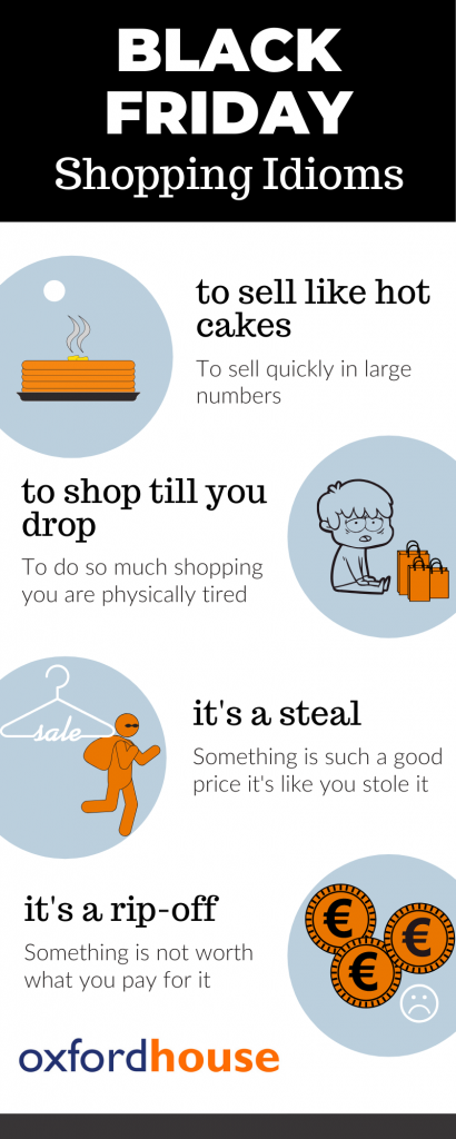 Idioms for shopping in English Oxford House Barcelona