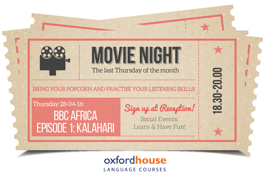 Practise your English at Oxford House Barcelona Film Night