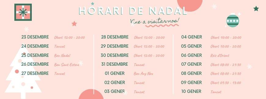 Horari de Nadal | Oxford House Barcelona