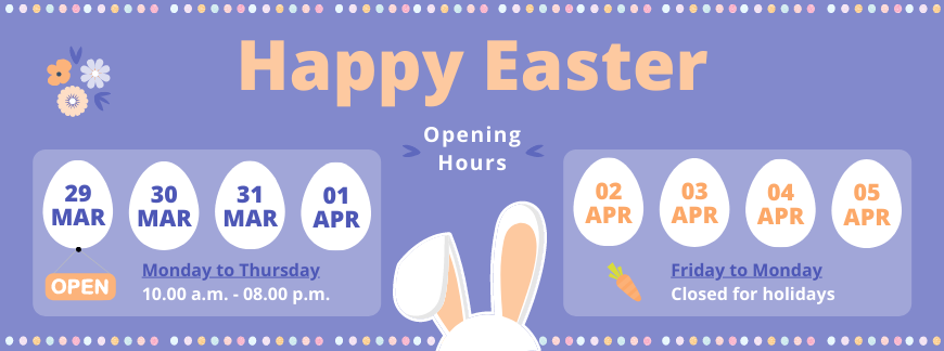 2021 Easter Timetable | Oxford House Barcelona