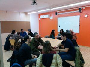 Clase de conversación de inglés en Oxford House Barcelona