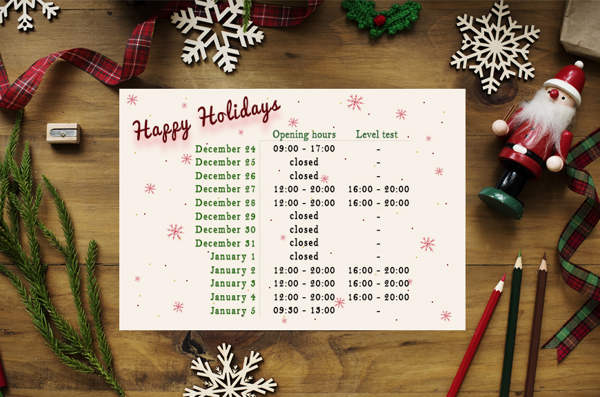 Christmas Timetable 18/19 | Oxford House Barcelona