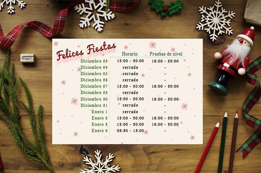 Horario de Navidad 19/20 | Oxford House Barcelona
