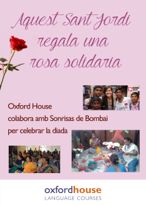 Sant Jordi Solidario - Oxford House Academia de Inglés