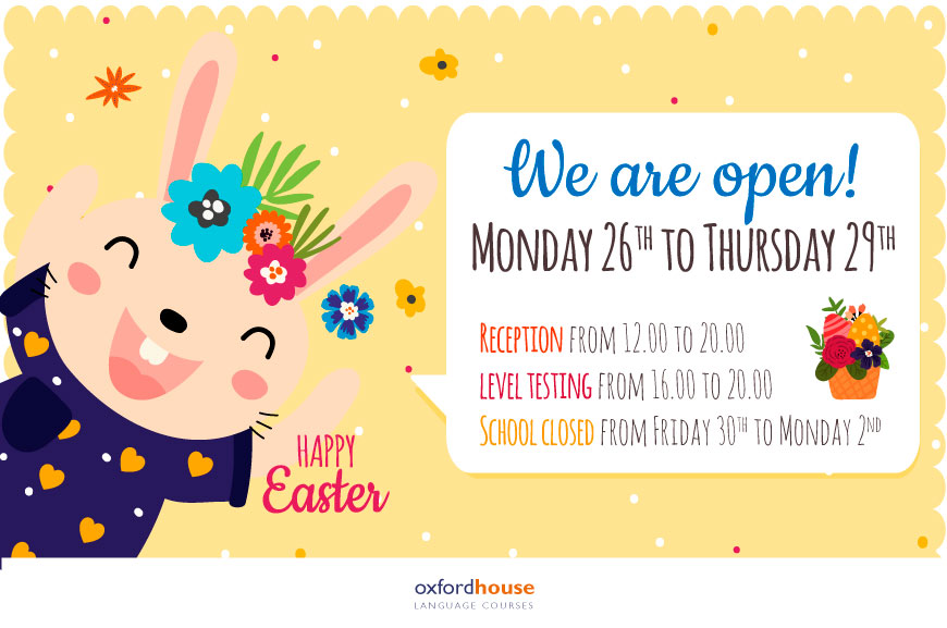 Easter Timetable 2018 | Oxford House Barcelona