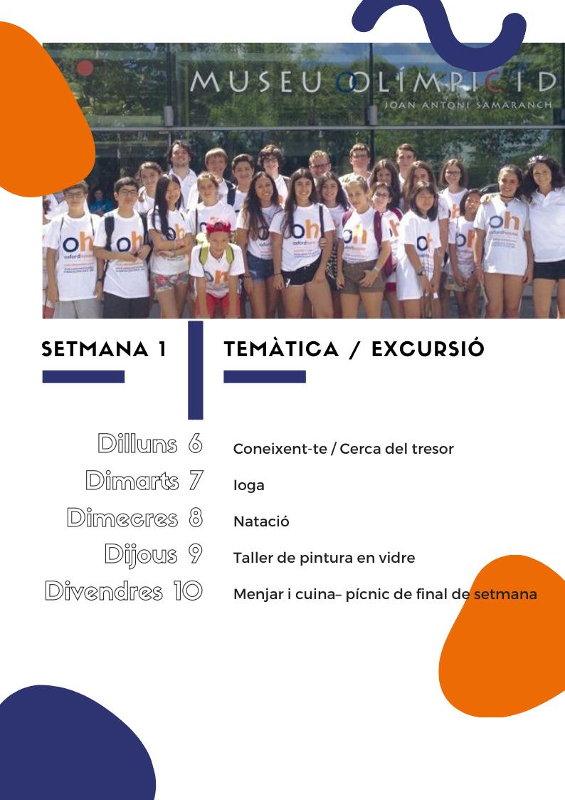 Setmana 1 | Anglès per a nens i joves a l'estiu 2020 | Oxford House Barcelona