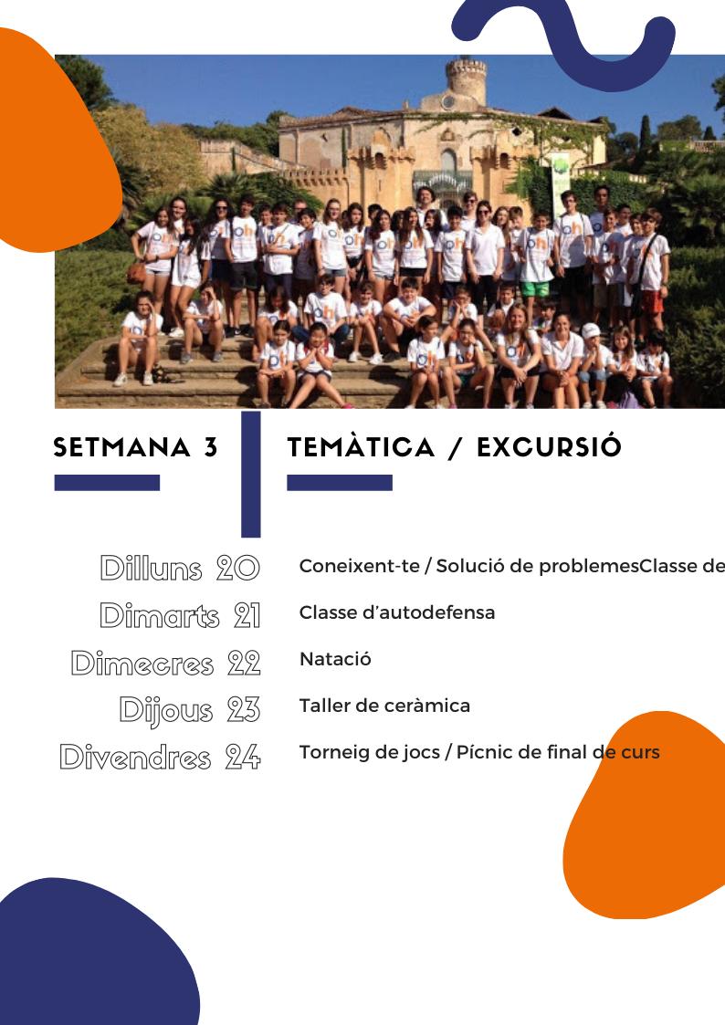Setmana 3 | Anglès per a nens i joves a l'estiu 2020 | Oxford House Barcelona