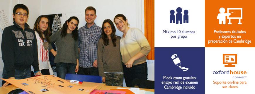 Cursos de preparación Cambridge First, Advanced o Proficiency para jóvenes