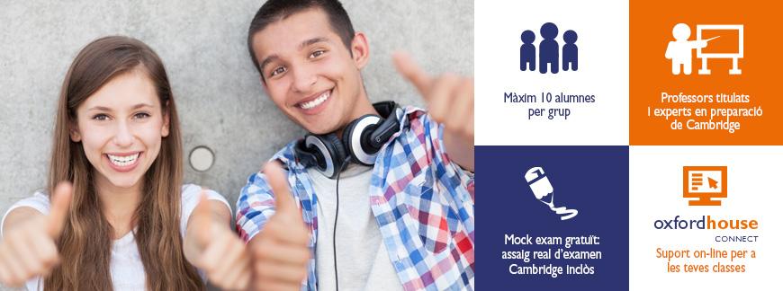 Cursos de preparació a exàmens Cambridge per a joves a l'estiu a Oxford House Barcelona
