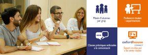 Cursos d'anglès intensiu a l'estiu a Oxford House Barcelona