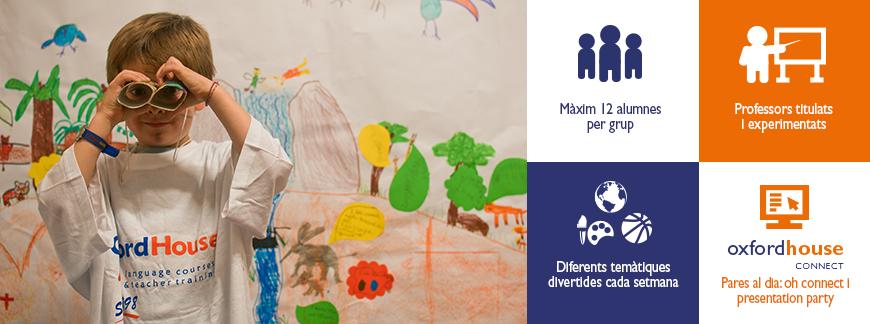 Curs d'Anglès d'Estiu per a nens | Oxford House Barcelona