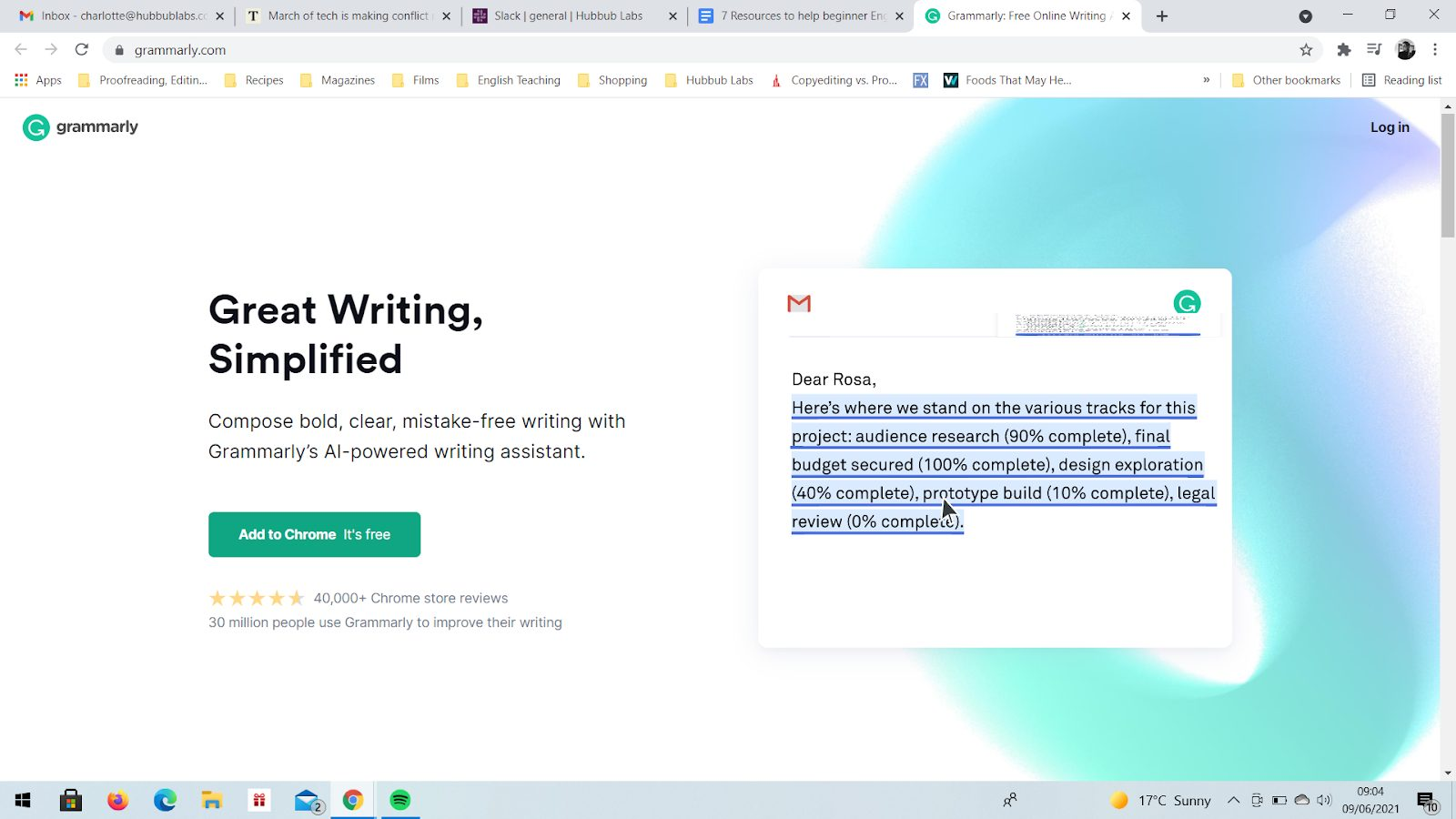 Writing-Grammarly | 8 Recursos para ayudar a los principiantes de inglés | Oxford House Barcelona