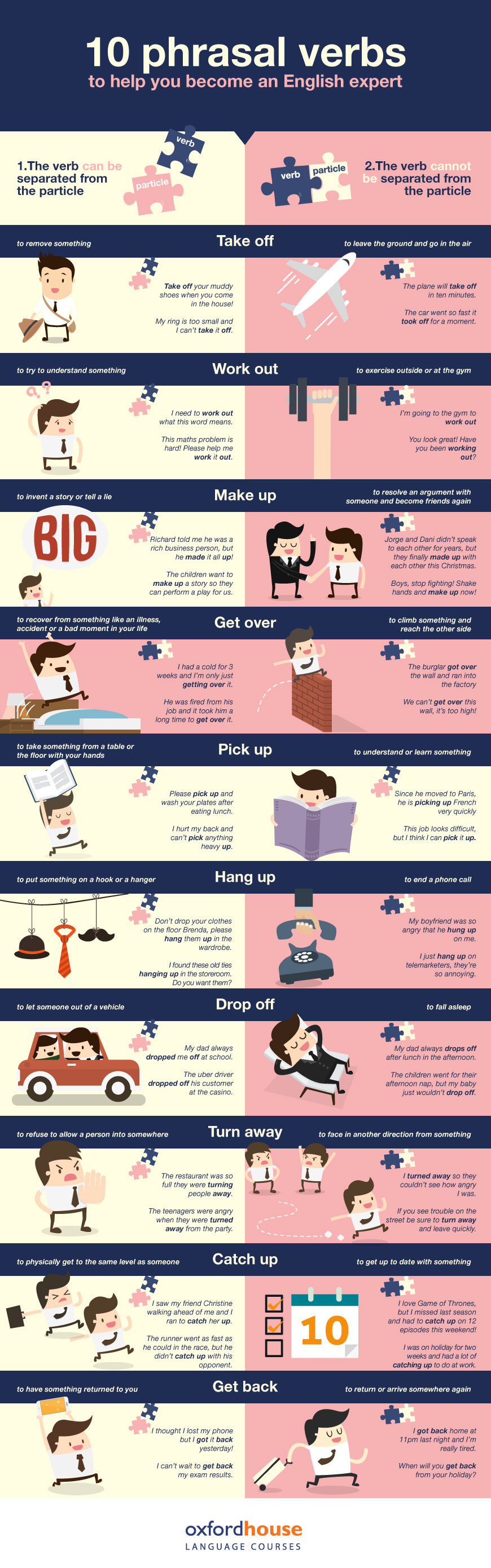 10 phrasal verbs to help you become an English expert [Infographic